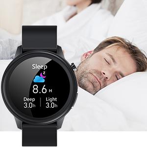 Smartwatch für Herren mit Schlafüberwachung.