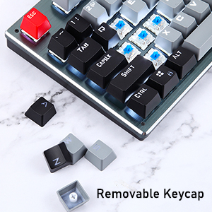 gaming keyboard with Removable keycap