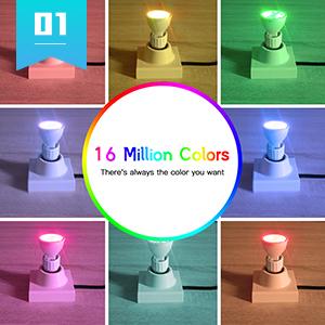 RGB 16 million color multi colors colour colorful bulb lighting