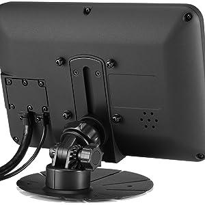 "7"" IP65 Sunlight Readable Capacitive Touchscreen LCD Display Monitor with HDMI, DVI, VGA amp; AV Video"