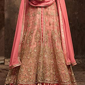 gown for girls latest design party wear 2019 long dress material anarkali girls ladies heavy 2020