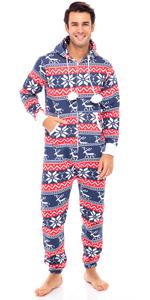 SKYLINEWEARS Men's Unisex Adult Onesie One Piece Non Footed Pajama Playsuit Jumpsuit