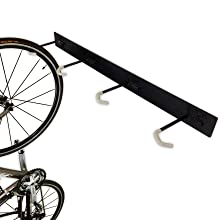 steel metal heavy duty sturdy strong bike hooks wall hanger rack storage indoor garage basement best