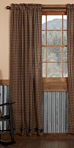 Navy Star Curtains primitive country rustic Americana VHC Brands window panel prairie swag valance