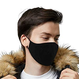 reusable face cover covering washable cotton fabric cloth for men women adults adjustable BLACK PACK