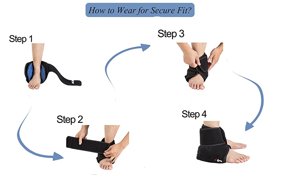 Hot/Cold Therapy & Air Compression Ankle Support Wrap for Alleviating Ankles Pain Arthritis Swelling Sports Injuries Plantar Fasciitis and Increase ...