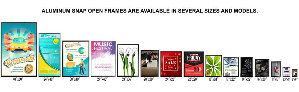 Snap Frame Sizes
