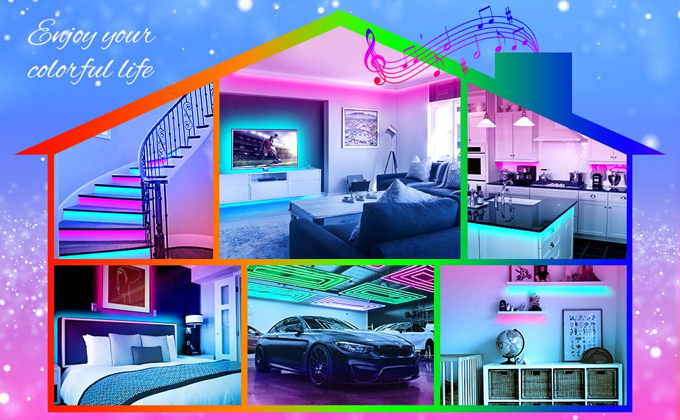 strip lights for bedroom color changing
