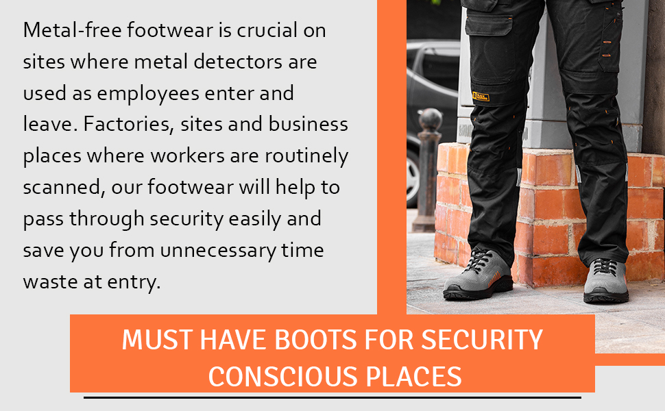 Stylish & comfortable safety trainers flynit design meets heavty duty S1P SRC