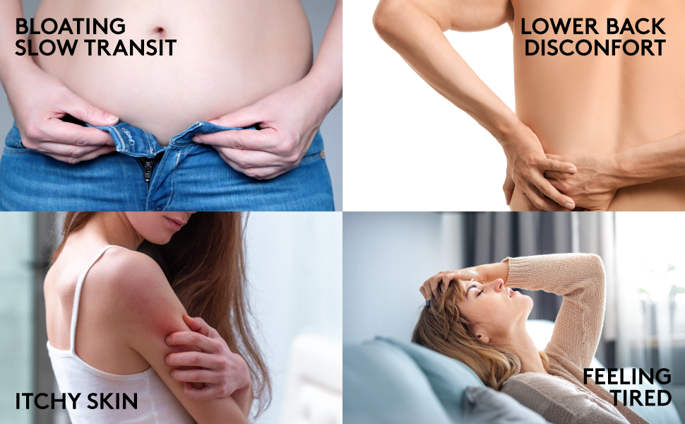 Kidney colon cleanse bloating back pain slow transit