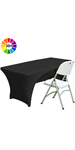 6ft Spandex Open Back Table Cover
