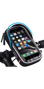 Bike Bags Bicycle Front Frame Bag Waterproof Handlebar Cycling Top Tube Pannier Touch Screen Sun