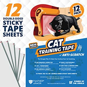 Panther Armor Cat Scratch Deterrent Tape 12-pack