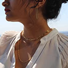 layered initial necklaces for women