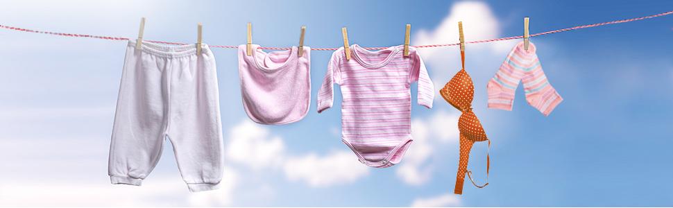 Washing clothes display