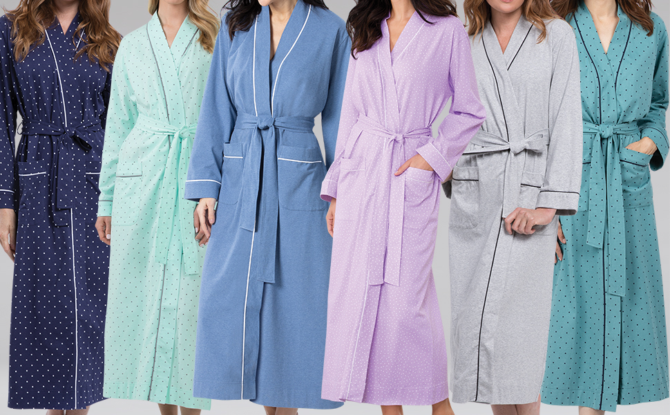 Variety of colorful robes grey background