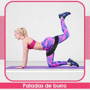 Kanzy Bandas Elasticas Musculacion, Bandas de Resistencia Fitness de Tela 3 Niveles Glute Bands Cintas Elasticas Musculacion Mujer y Hombre para ...