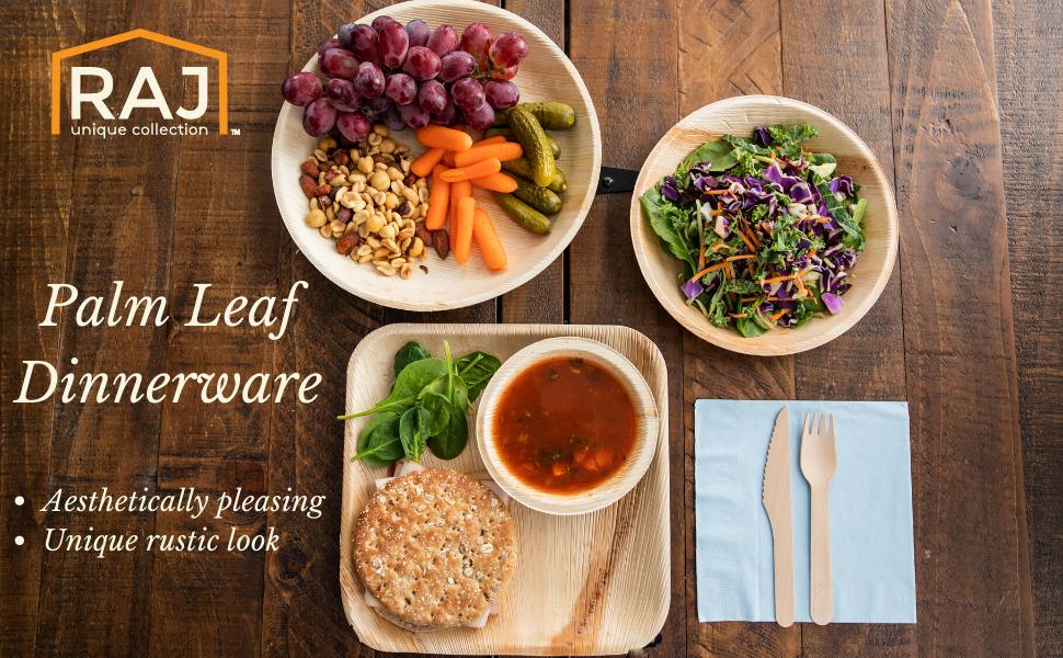Raj Palm leaf Dinnerware