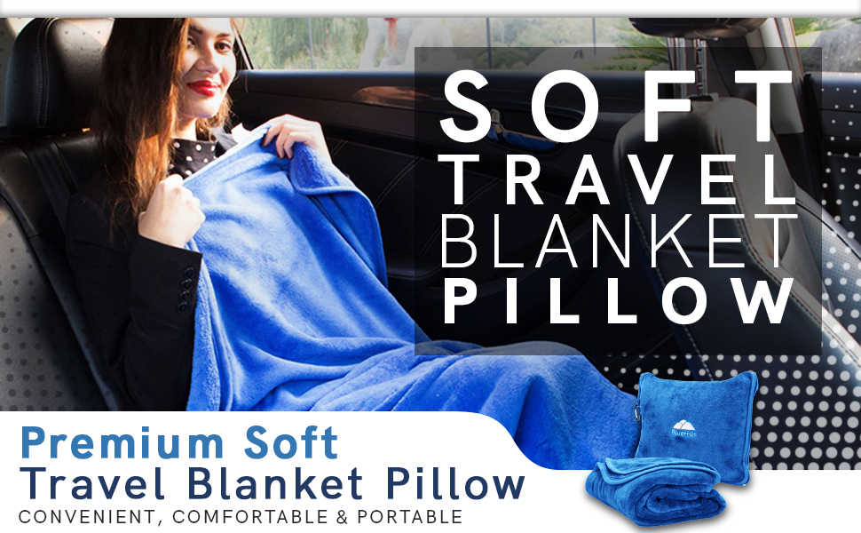 Soft Travel Blanket Pillow