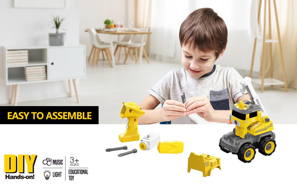 take apart construction vehicle