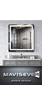mavisever 36x36 inch led lighted mirror wall mounted bathroom backlit vanity lighted mordern mirror