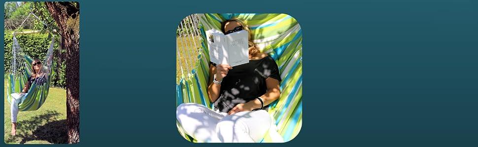 Colori Sedia sospesa:Toskana HOBEA-Germany Sedia sospesa con 2 Cuscini in Diversi Colori Dimensioni Sedia Amaca: L bis 120kg belastbar