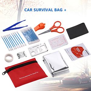 Sailnovo Kits de Emergencia del Coche Portátil Botiquin Coche de Asistencia en Carretera Multifuncional 97 en 1
