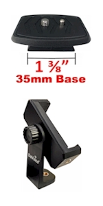 35mm quick release plate phone tripod mount