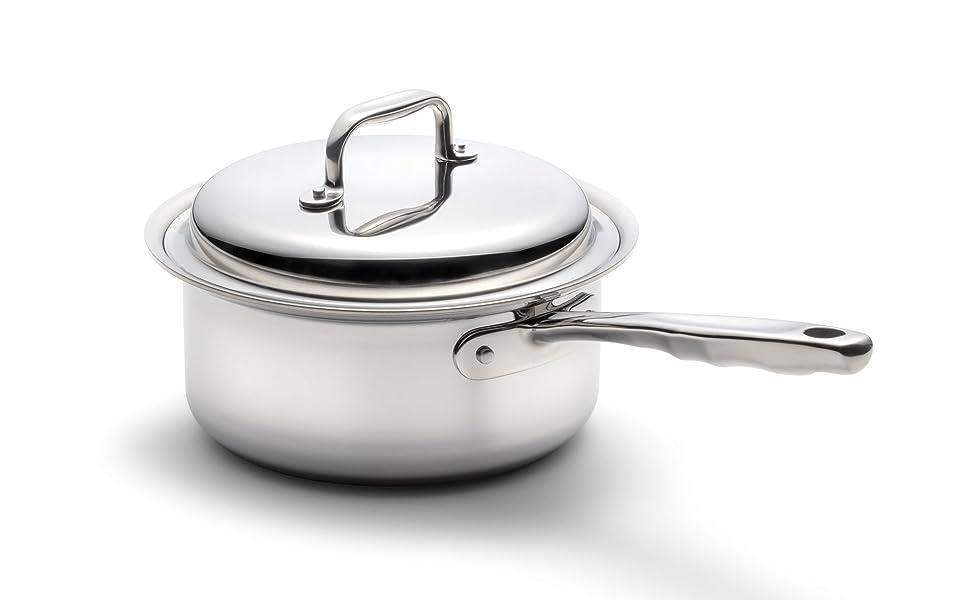 360 3 quart sauce pan stainless steel waterless cookware