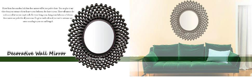 mirror bubble mirror black wall mirror decorative wall mirror home decor room decor
