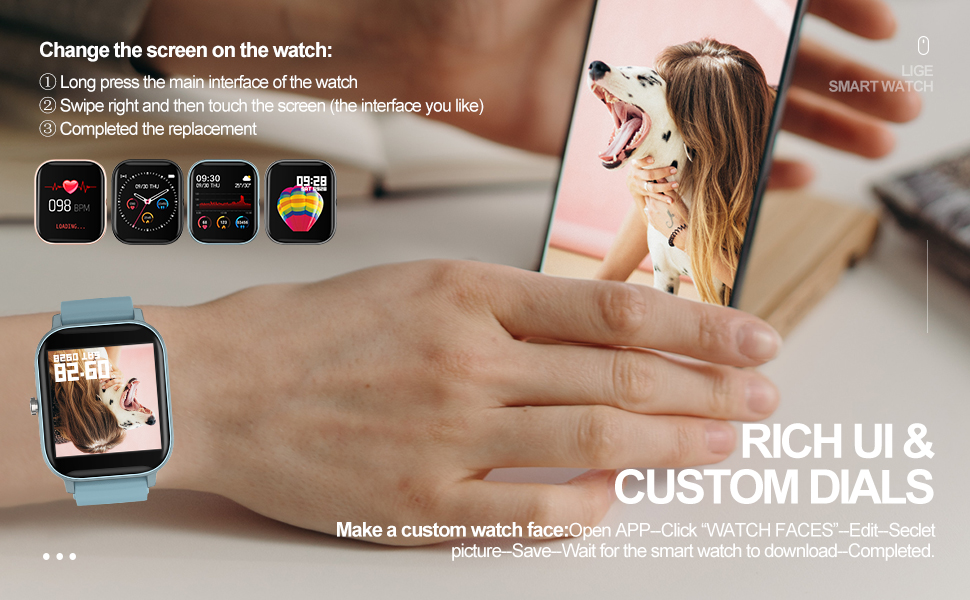 full screen touch watch