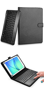 """Cooper Touchpad Executive leather keyboard case with mouse touchpad for 9-10"""" tablets"""