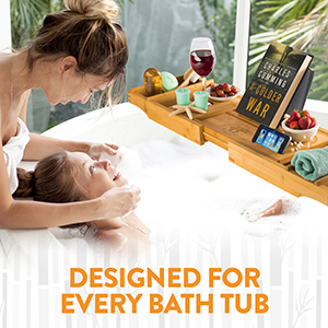 bath tub tray fits in all sizes tubs because it expands
