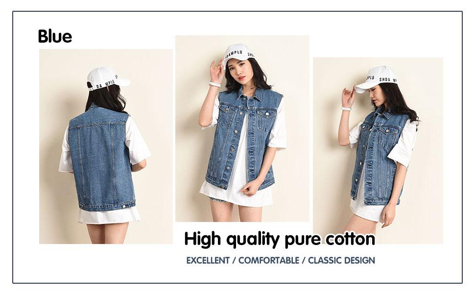Womens Button Down Jean Vest