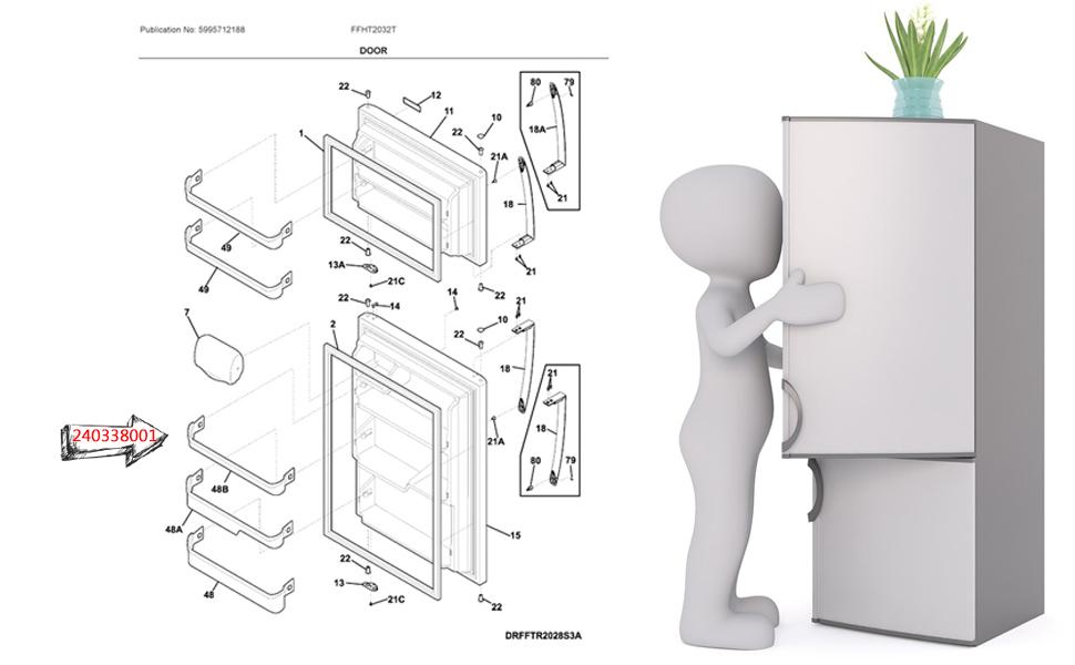 240338001 Refrigerator Door Bin Shelf Bar
