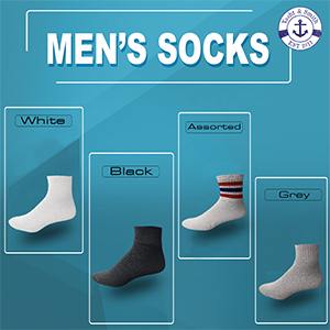 WHITE, BLACK, STRIPPED, GREY SOCKS