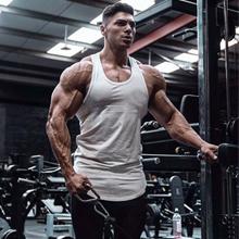 White Mens Workout Tank Tops