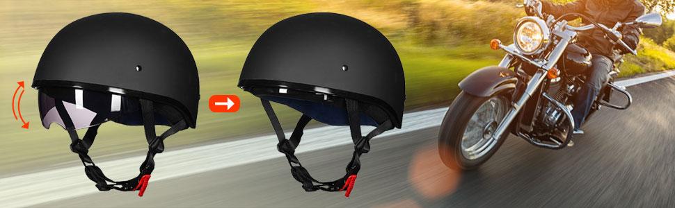 dirt bike half helmet for men women