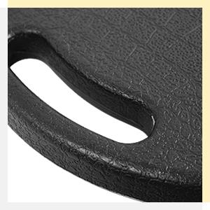 black folding stool