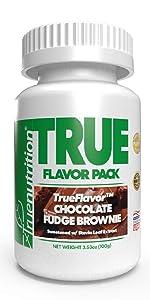 true nutrition trueflavor chocolate fudge brownie custom protein powder
