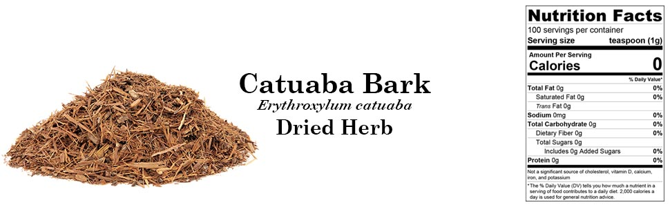 Catuaba Bark (Erythroxylum catuaba) Dried Herb 100g 3.55oz