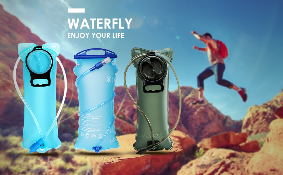 WanderLand Hydration Backpack Bladder 3 Liter with Cleaning Kit BPA Free Large Opening Leakproof TPU Water Reservoir 100 oz for Biking Hiking Camping