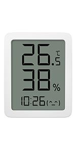 Homidy Thermo Hygrometer Mini Hygrometer Innen Luftfeuchtigkeitsmessgerät Innen Digitales Thermometer Hygrometer Hochpräzise Digitalsensor Geeignet Für Babyzimmer Wohnzimmer Büro Weiß Garten