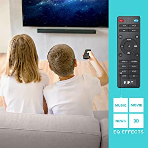 remote control with EQ effects