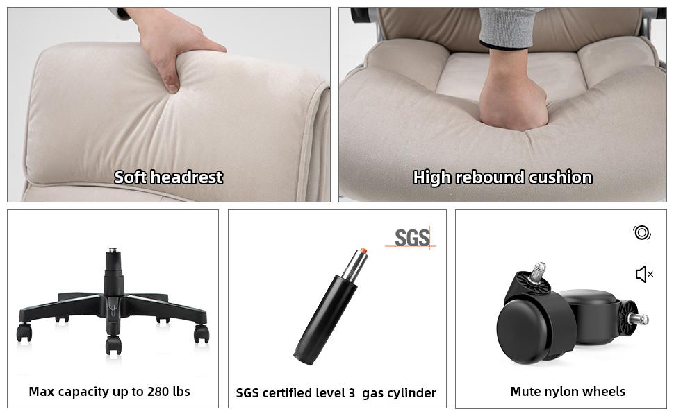 Ergonomic Adjustable Racing Chair Task Swivel Chair Armrest and Lumbar Support