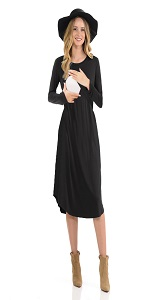 CzzzyL Womens Short Sleeve Maternity Nursing Dress for Breastfeeding