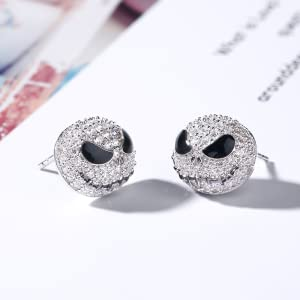 Classic Jack And Sally Studd Glass Earrings