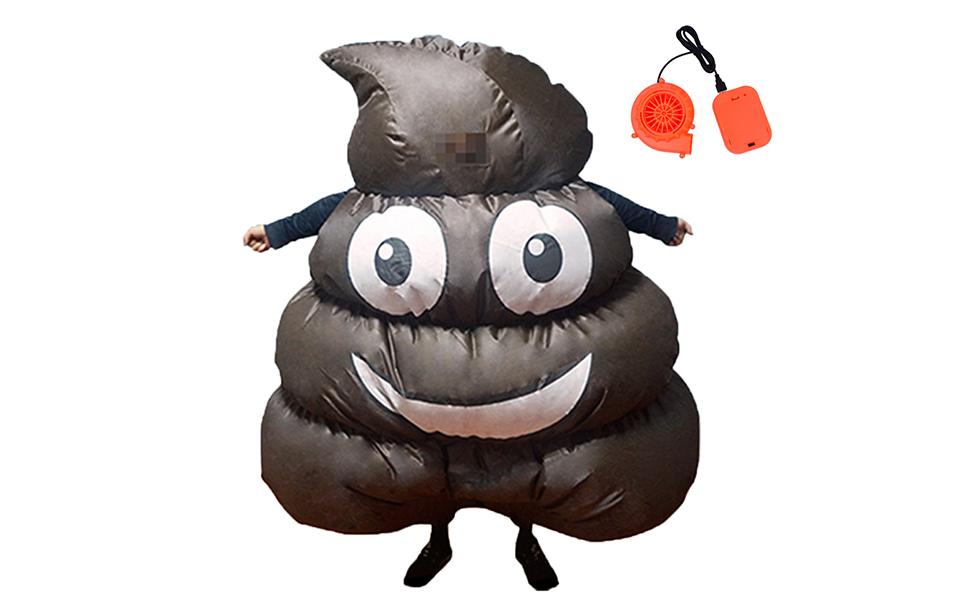 Carnival Halloween Costume For Kids Unisex Poop Emoji Cosplay Fancy Dress