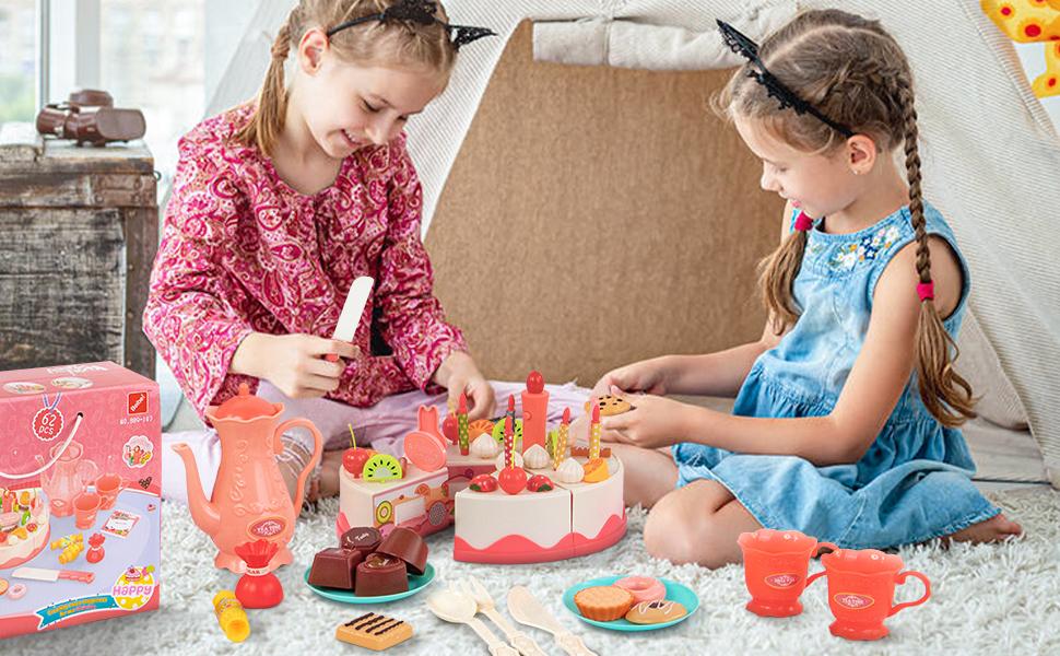 play food toy food fake food birthday cake toy pretend food play food set