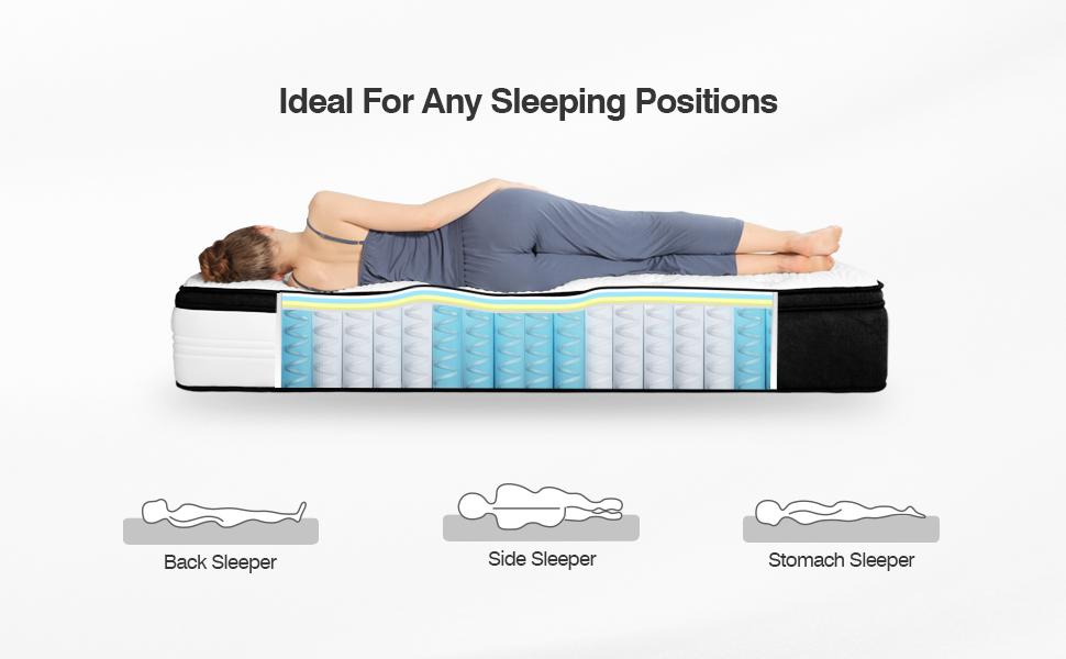 king mattress, king size mattress, memory foam mattress king, hybrid mattress king